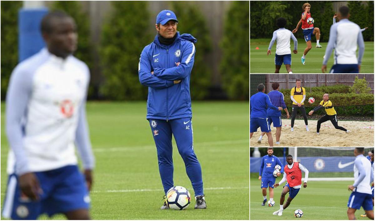 """CHÙM ẢNH: Dàn sao Chelsea tập luyện """"điên cuồng"""" chờ ngày du đấu"""