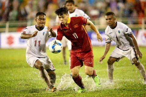 VFF lên tiếng về việc để U22 Việt Nam đá sân ngập nước