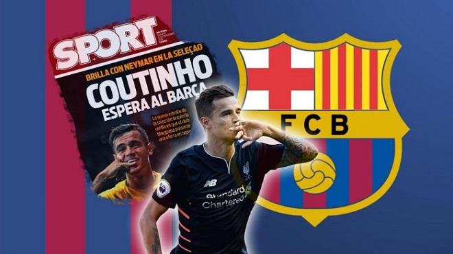 "Barcelona tiếp tục dùng bom tiền ""ve vãn"" Coutinho"
