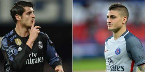"""Điểm tin tối 20/07: Morata tuyên bố không bao giờ trở lại Bernabeu; Verratti bất ngờ hợp tác với """"siêu cò"""""""