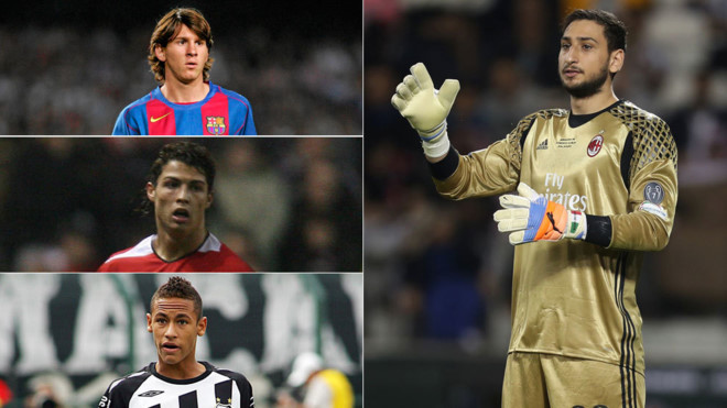 """Ở tuổi 18, Ronaldo và Messi thua hẳn """"Buffon đệ nhị"""" về khoản này"""