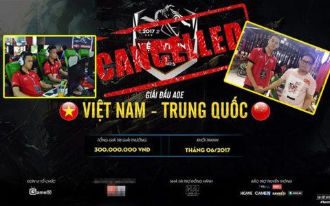 """""""Quên xin giấy phép"""", giải AoE Việt Trung 2017 bị hoãn vô thời hạn"""