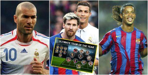 Ronaldo và Messi lĩnh xướng đội hình 11 ngôi sao xuất sắc nhất thế kỷ 21 do UEFA bình chọn