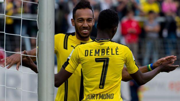 Aubameyang nói gì về tương lai của Dembele tại Dortmund?