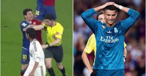 TIẾT LỘ: Messi từng đẩy trọng tài ở El Clasico như Ronaldo nhưng vẫn thoát án treo giò