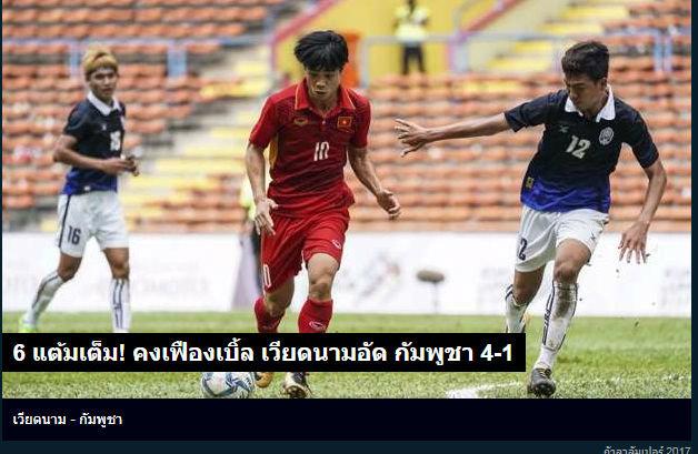 """Báo Thái ca ngợi U22 Việt Nam, thất vọng """"tột độ"""" về đội nhà"""