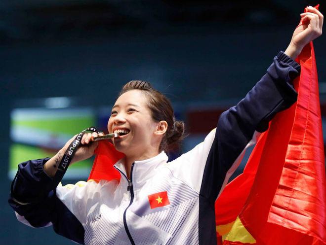 Thúy Vi tiếp tục tỏa sáng đem về HCV thứ 5 cho Đoàn thể thao Việt Nam