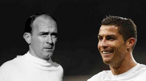 Ronaldo cân bằng thành tích của huyền thoại Di Stefano
