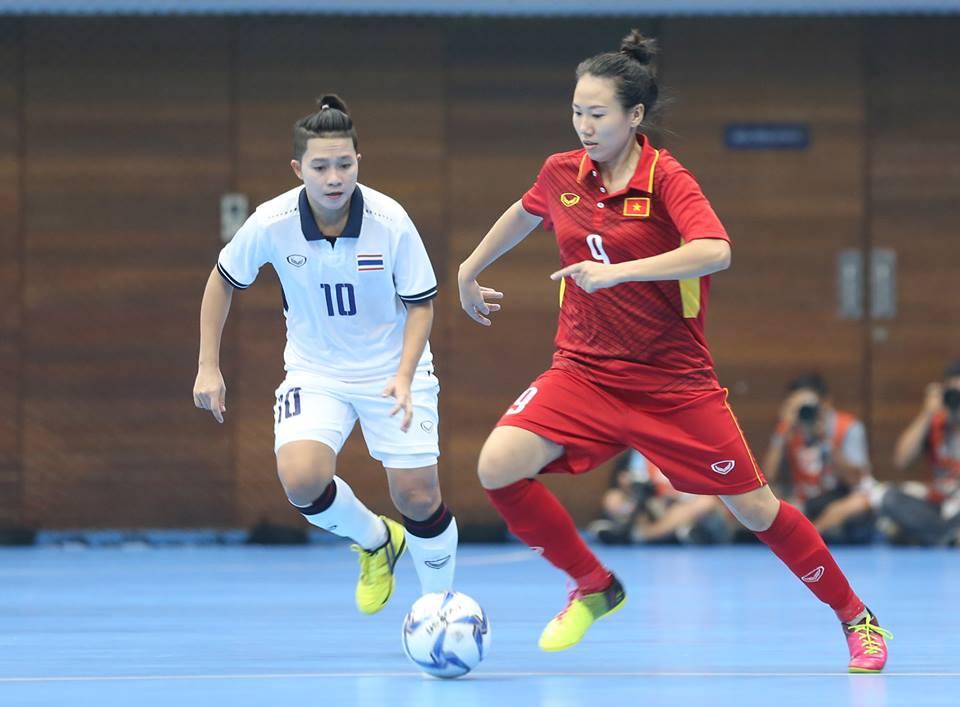 Thi đấu hết mình, tuyển nữ Futsal Việt Nam vẫn ngậm ngùi thất bại trước người Thái