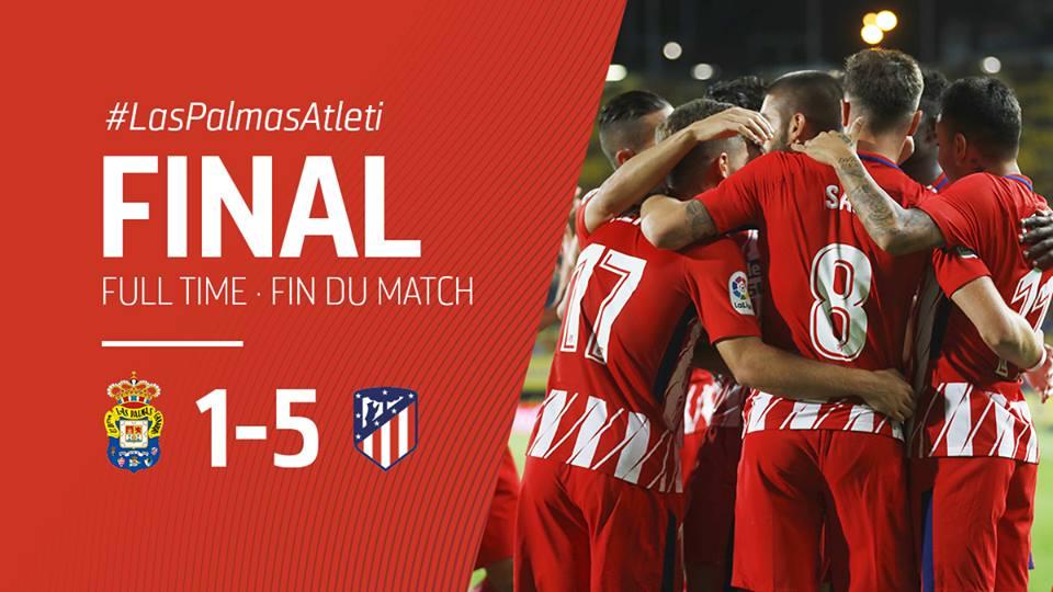 Vượt lên trong 5 phút đầu, Atletico Madrid nhẹ nhàng kết liễu chủ nhà Las Palmas