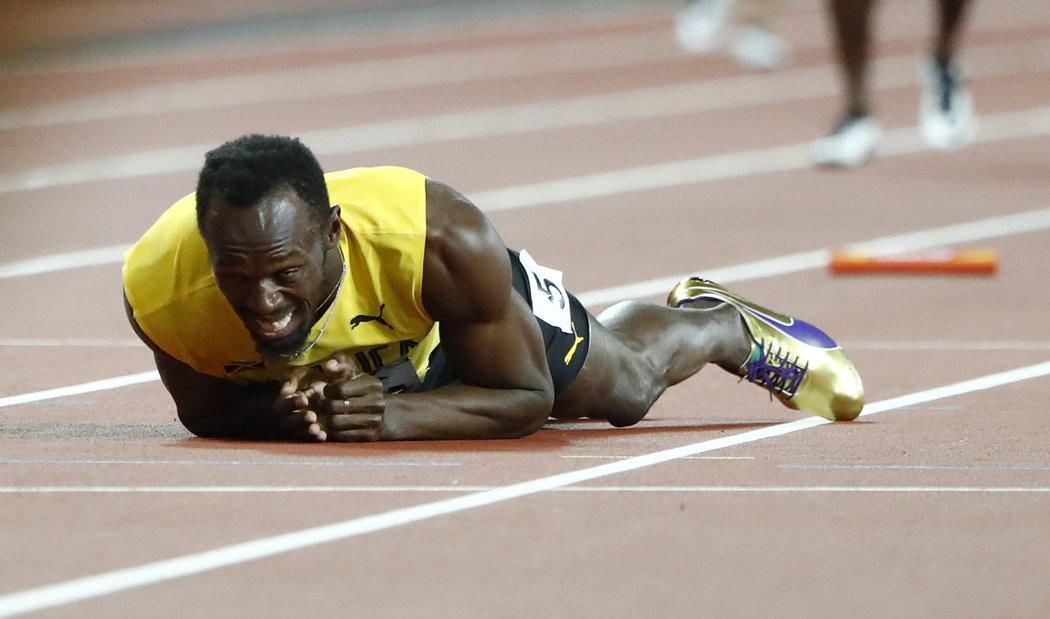 """""""Tia chớp"""" Usan Bolt gục ngã trên đường chạy cuối cùng"""