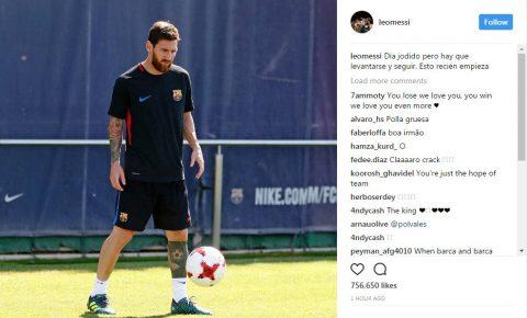 Paulinho vừa tới, Messi lập tức văng tục trên mạng xã hội