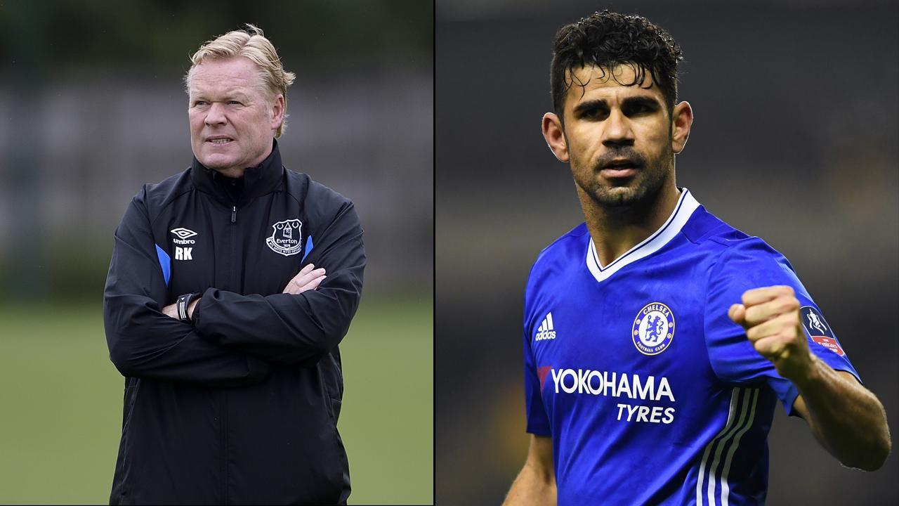 HLV Ronald Koeman chào mời Diego Costa tới Everton
