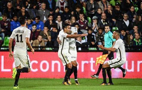 Không Mbappe, mãnh hổ Falcao tiếp tục sắm vai người hùng giúp Monaco giành trọn 3 điểm