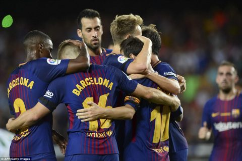 VIDEO: Barcelona 2-0 Real Betis (Vòng 1 La Liga 2017/18)
