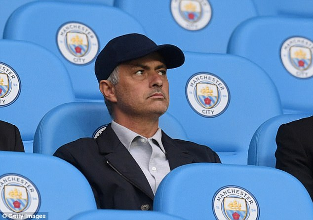 Bất ngờ có mặt trên sân Etihad, Mourinho bị fan trêu đùa
