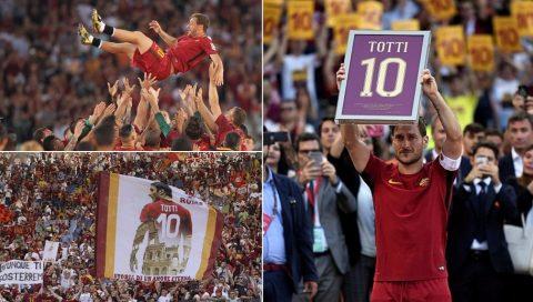 """""""Hoàng tử thành Rome"""" Totti được vinh danh với giải thưởng đặc biệt từ UEFA"""