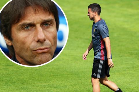 """Conte """"sốc nặng"""" vì Hazard vẫn bị triệu tập lên ĐTQG bất chấp chấn thương"""