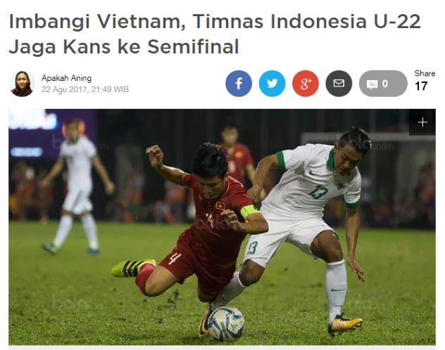 Báo chí và NHM Indonesia nói gì về trận hòa xấu xí của đội nhà trước U22 Việt Nam?