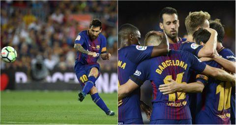Messi lập hat-trick cột dọc, Barca chật vật giành chiến thắng trong ngày ra quân La Liga