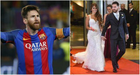 Thật khó tin với số tiền mừng ở đám cưới Messi