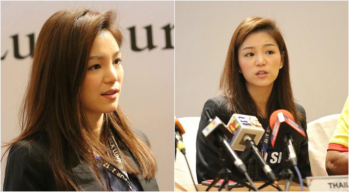 """CHÙM ẢNH: Cận cảnh nhan sắc """"vạn người mê"""", hút hồn phóng viên báo chí của nữ trưởng đoàn U22 Thái Lan"""