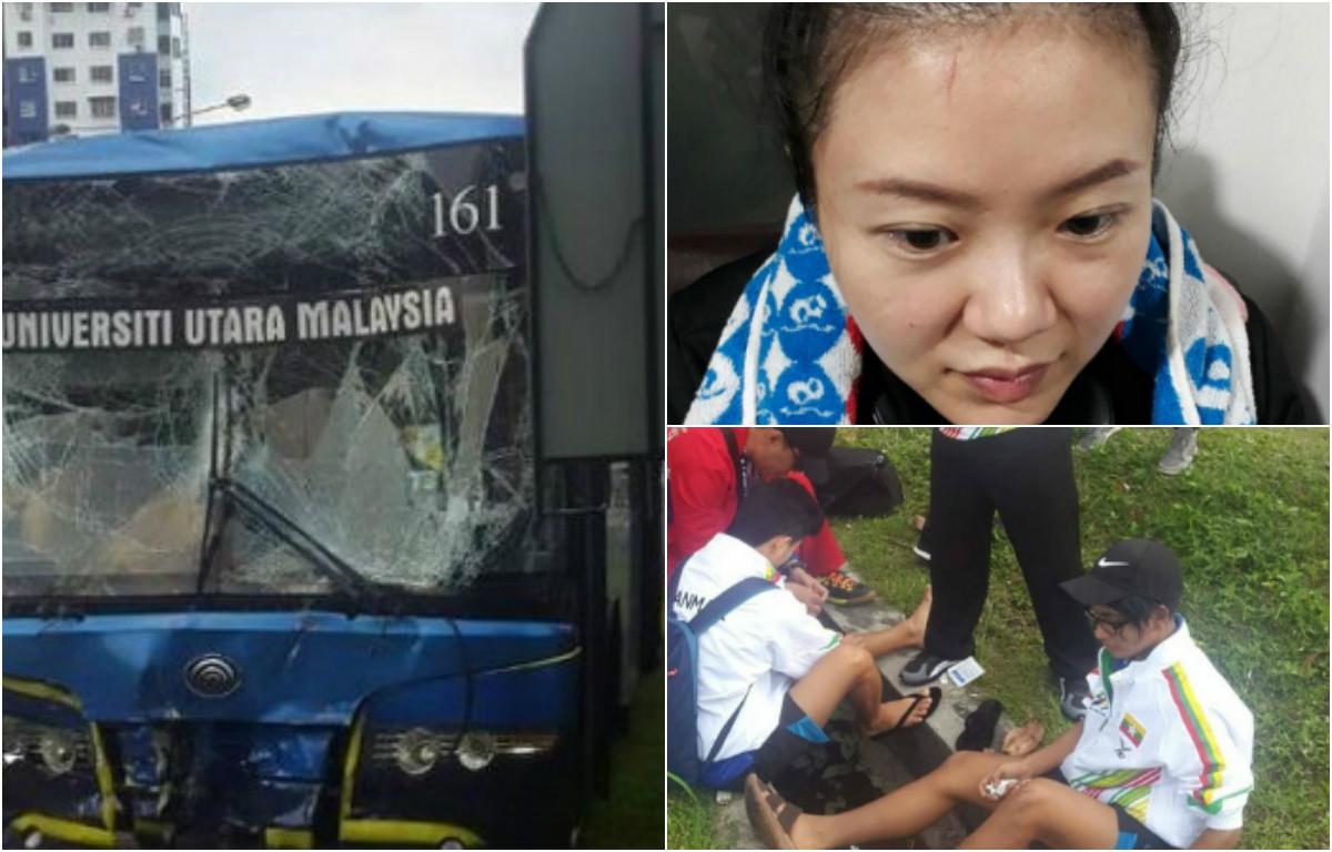 NÓNG: Hai xe Bus chở VĐV thi đấu SEA Games đâm nhau, ít nhất 8 người bị thương nặng