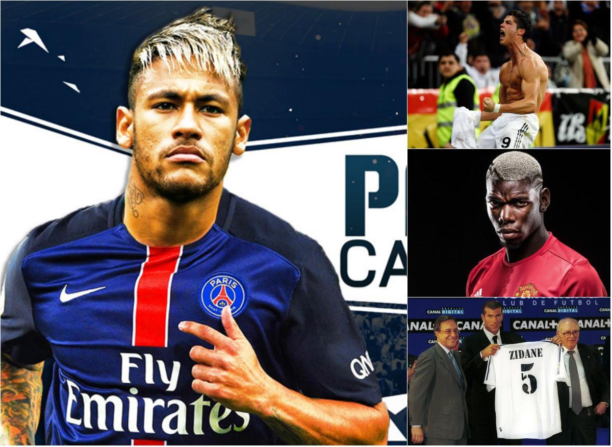 Neymar sang PSG và 10 kỷ lục chuyển nhượng trong vòng 20 năm qua