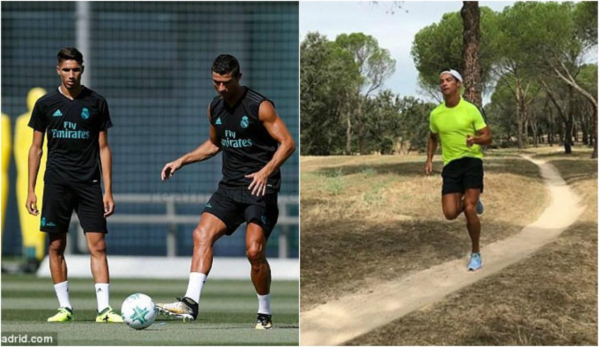 CHÙM ẢNH: Ronaldo tích cực tập luyện trở lại, sẵn sàng chiến MU