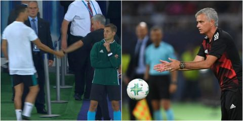 Mourinho mỉa mai Ronaldo, bất ngờ tặng huy chương về nhì cho khán giả