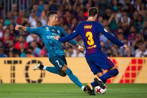 """""""Bộ đôi hoàn cảnh"""" Ronaldo và Pique tạo chuỗi sự kiện hy hữu có 1-0-2 trong lịch sử bóng đá Tây Ban Nha"""