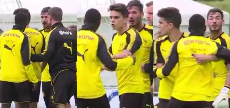 Học theo Neymar, sao trẻ Dortmund…gây hấn với đồng đội