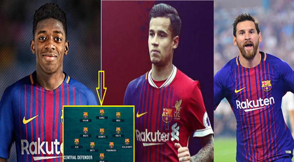 """Cận cảnh đội hình """"siêu công"""" cực mạnh của Barca sau khi phát nổ 2 bom tấn Coutinho và Dembele"""