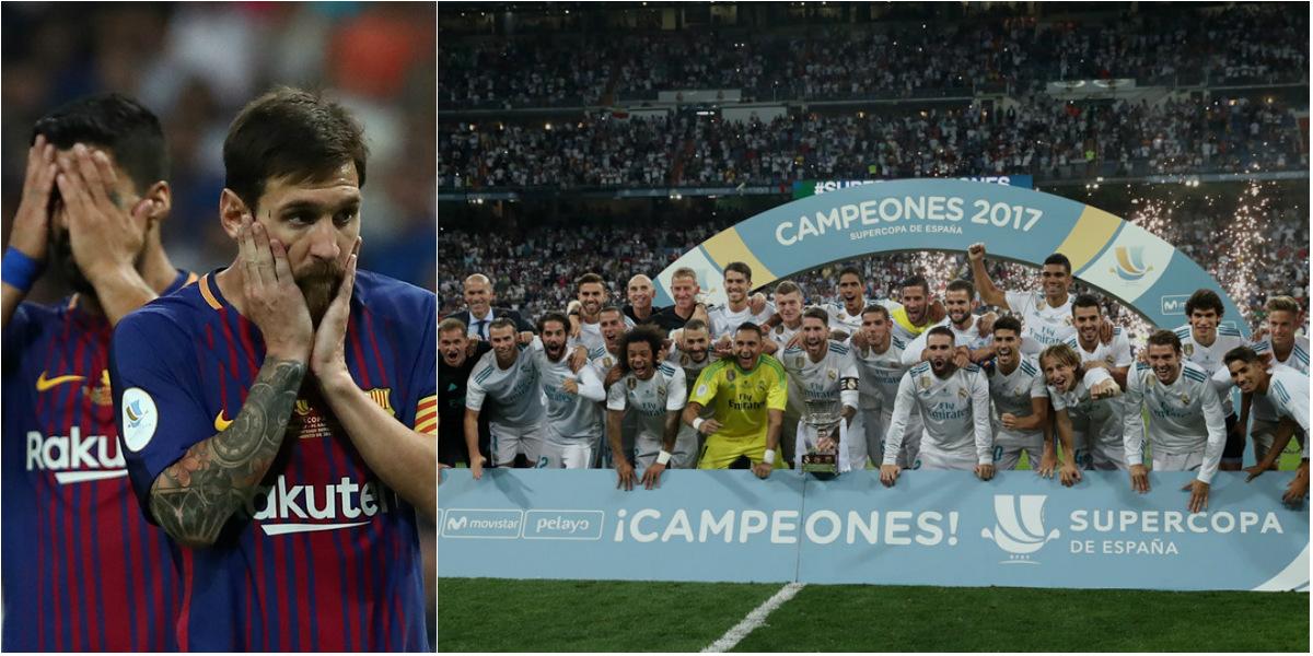 CHÙM ẢNH: Messi và Suarez bất lực nhìn dàn sao Real đăng quang Siêu cup TBN