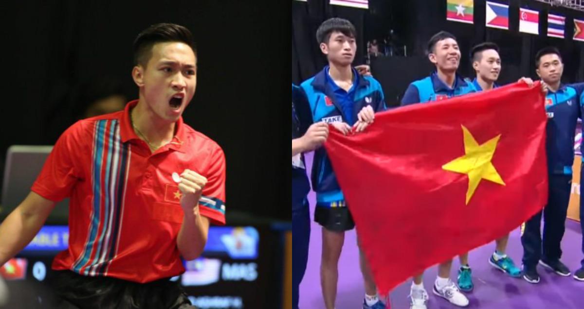 ĐỊA CHẤN: Hạ gục gã khổng lồ Singapore, bóng bàn Việt Nam giành HCV lịch sử tại SEA Games