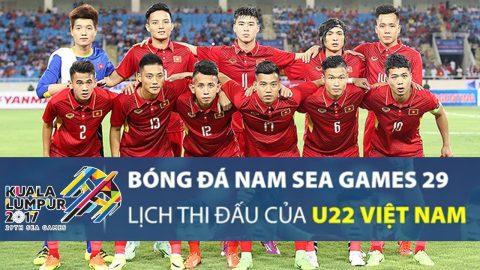 Lịch thi đấu và phát sóng trực tiếp bóng đá nam SEA Games 29