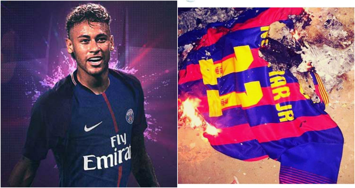 CHÙM ẢNH: Fan Barca phẫn nộ tột đỉnh đốt áo 'kẻ phản bội' Neymar