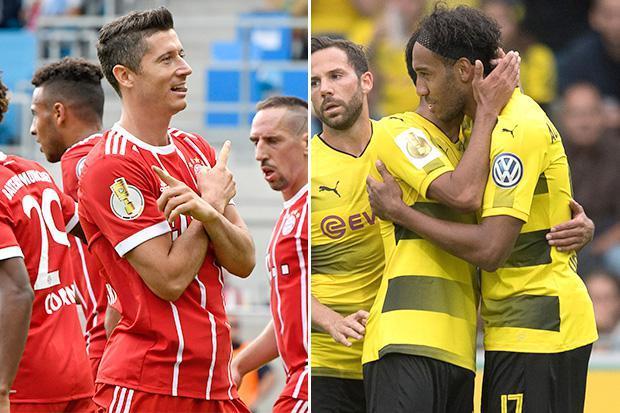 Vòng 1 Cup quốc gia Đức: Lewy ghi 2 bàn, Aubameyang lập hat-trick đem về chiến thắng hủy diệt cho 2 ông lớn Bundesliga