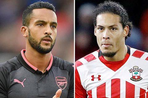 """Arsenal sẵn sàng mang Walcott """"tế thần"""" thương vụ Van Dijk"""