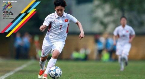 """""""Ronaldo tuyển nữ Việt Nam"""" hy vọng lập siêu phẩm hạ Myanmar"""