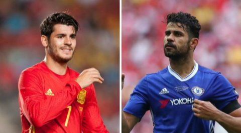 Morata chưa thể sánh bằng Diego Costa