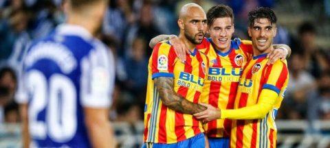 Zaza tiếp tục nổ súng, Valencia đánh bại Sociedad trong trận cầu siêu kịch tính
