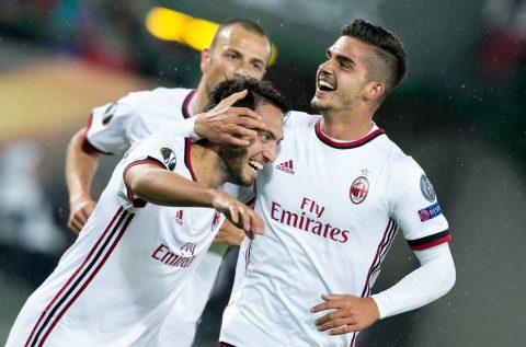"""""""Truyền nhân CR7"""" lập hat-trick, AC Milan đại thắng trên đất Áo"""