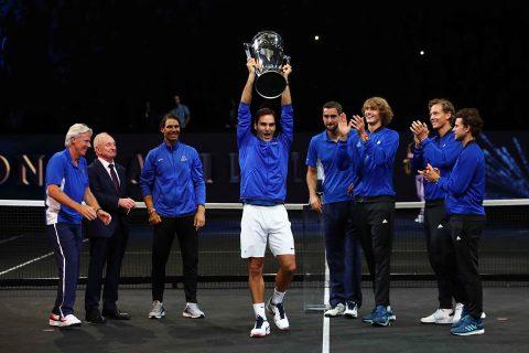 Ngược dòng thắng Nick Kyrgios, Federer giúp tuyển châu Âu vô địch Laver Cup 2017
