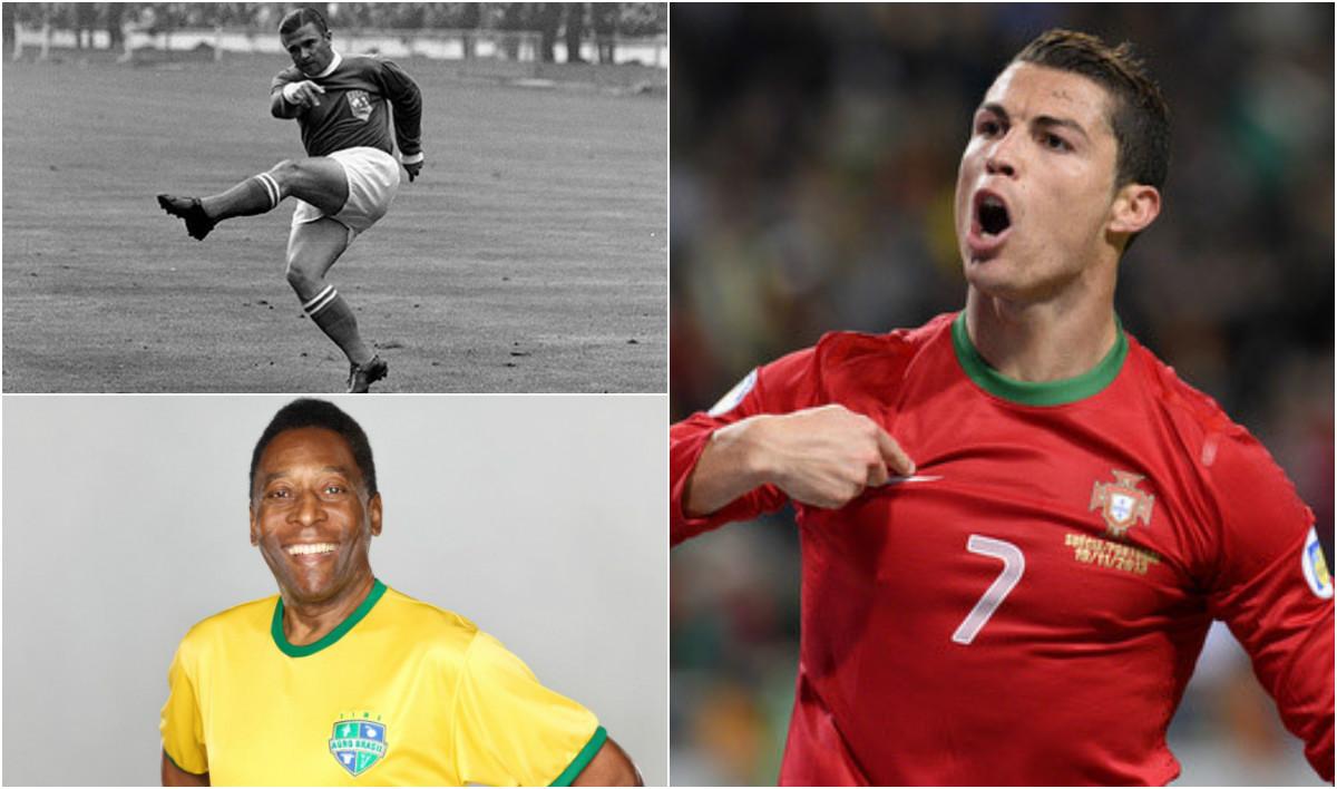 Top 10 chân sút vĩ đại nhất cấp độ ĐTQG: Vượt Vua bóng đá Pele, Ronaldo bám sát Puskas