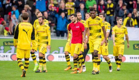 Bất lực trước 10 người của Freiburg, Dortmund chia điểm đáng tiếc trên sân khách