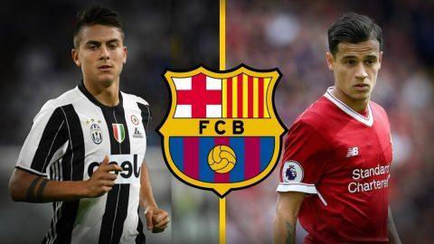 Sốc: Quá mải mê với Coutinho, Barca hai lần từ chối mua Dybala