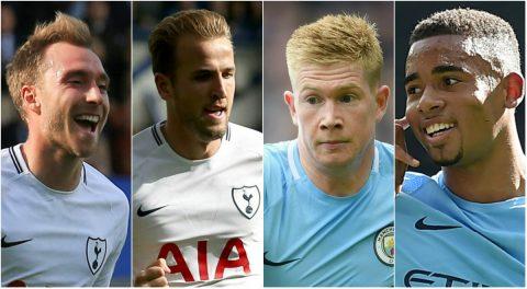Đội hình hay nhất vòng 4 Premier League: Man City và Tottenham áp đảo phần còn lại
