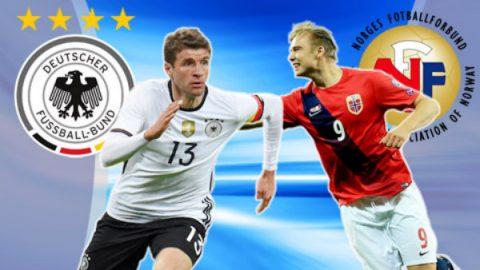 Đức vs Na Uy, 01h45 ngày 05/9: Thắng và chờ vé tới Nga