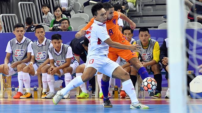 ĐT futsal Việt Nam hòa kịch tính trước Hà Lan